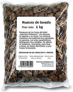 Nueces de Lavado Vivio. Alternativa Ecológica y Antialérgica a los Detergentes. Paquete Ahorro de 1 kg. Incluye bolsita contenedora.