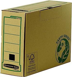 Bankers box earth series-boîte 4471801-d'archives-dos 100 mm-étui pour, de 100 cent de contenu recyclé-marron-lot de 20