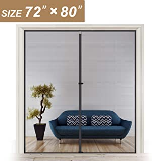 Magnetic Screen Door 72 x 80, Strengthened French and Patio Door Screen Curtain Fit Doors Size Up to 72