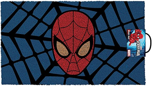 Pyramid America GPA70006 Spider Man Web Doormat Multicolor