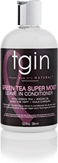 tgin Green Tea Super Moist Leave-in Conditioner For Natural Hair - Dry Hair - Curly Hair Oz White Green Tea, Shea butter, ...