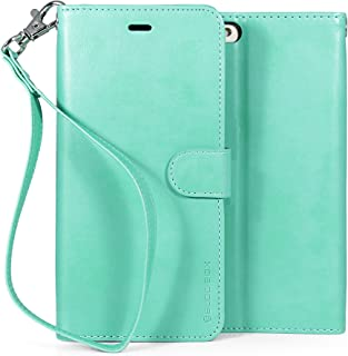 BUDDIBOX iPhone 6s Plus Case, [Wrist Strap] Premium PU Leather Wallet Case with [Kickstand] Card Holder and ID Slot for Apple iPhone 6S / 6 Plus, (Teal)
