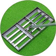 WSVULLD Golf Garden Rake Level Lawn 4.4ft met roestvrijstalen pool - Heavy Duty Soil Lawn Leveler Tool for Ward Golf