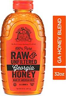 Nature Nate'S 100% Pure Raw & Unfiltered Georgia Honey; 32 Oz; Certified Gluten Free & OU Kosher Certified; Enjoy Honey'S Rich Flavors & Benefits; Delicious Natural Goodness From Georgia Bees