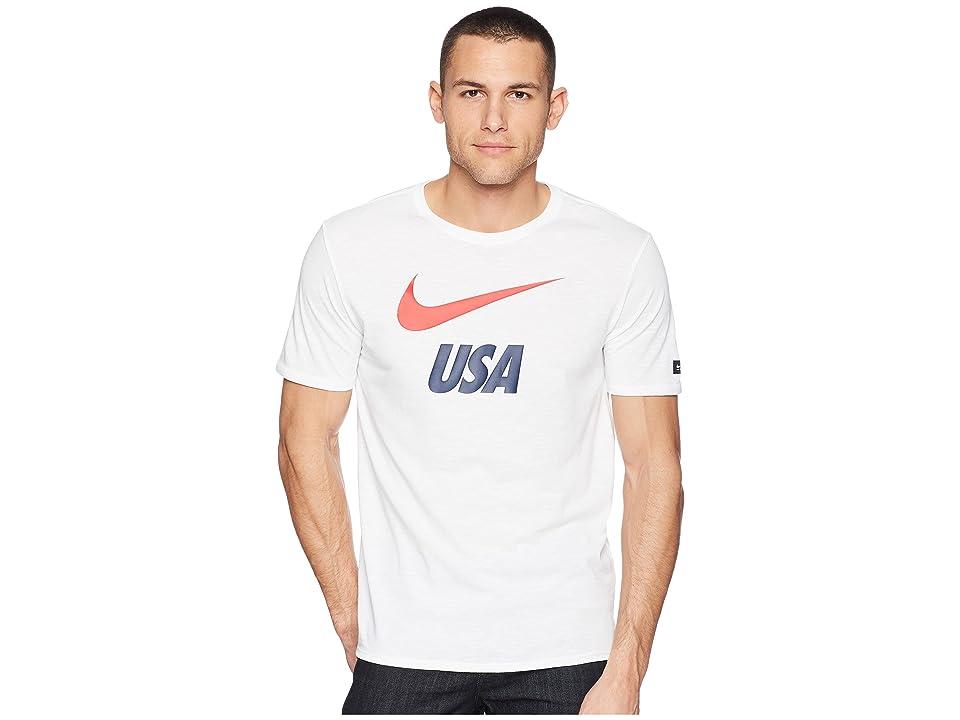 Nike USA Dry Tee Slub Preseason (White) Men