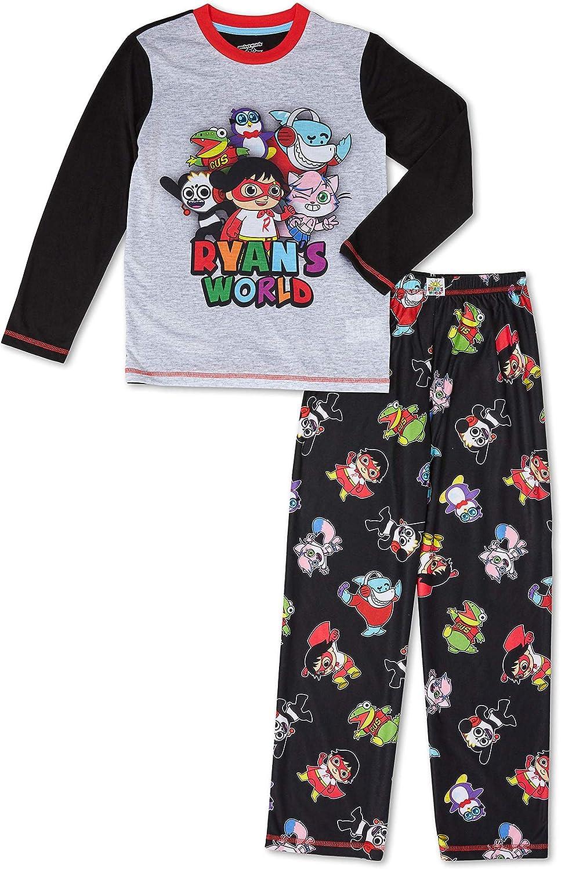 Boys Ryan's World 2 Piece Long Sleeve and Pants Pajama Set