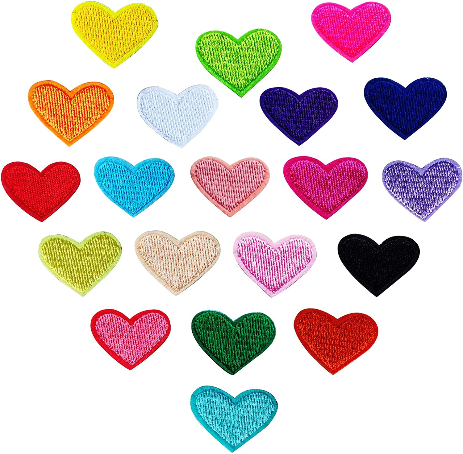 Heart Patches for Clothing Repair 20pcs Embroider In a popularity supreme Iron Sew on