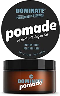 Dominate Men's Hair Styling Pomade with Argan Oil, 75g