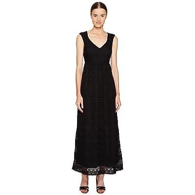 RED VALENTINO Cotton Lace Jersey Dress (Black) Women