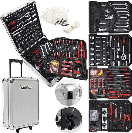 Masko® 949 Werkzeugkoffer Werkzeugkasten Werkzeugkiste Werkzeug Trolley ✔ Profi ✔ 949 Teile ✔ Qualitätswerkzeug ✔ Silber