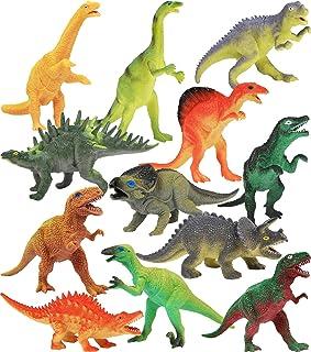 "Click N' Play Dinosaur Realistically Designed Jumbo 7"" Dinosaur Play Set Pack of 12"