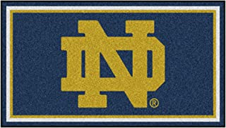 FANMATS NCAA Notre Dame Fighting Irish 3 Ft. x 5 Ft. Area RUG3 Ft. x 5 Ft. Area Rug, Navy, 3' x 5' (19750)