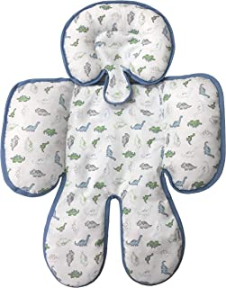 Little Me Reversible Baby Full Body Support for Head and Neck, Car Seat and Stroller, Dino