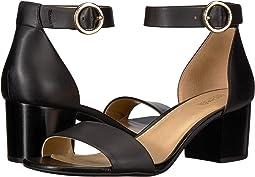 Black Vachetta/Stacked Heel