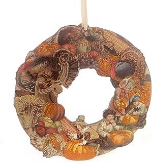Thanksgiving VINTAGE THANKSGIVING WREATH Wood Primitive Holiday Autumn 30320