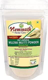 100% Natural Multani Mitti Powder to REMOVE SUN TAN NATURALLY (FULLERS EARTH) (0.22 lb)/3.5 ounces)