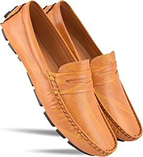 Ovexa Tan Color Loafers & Mocassins Casual Shoes for Boys and Men