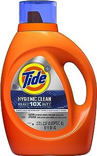 Tide Hygienic Clean Heavy 10x Duty Liquid Laundry Detergent, Original Scent, He Compatible, 59 Loads, 92 Fl Oz