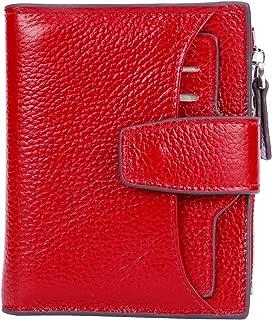 Women's RFID Blocking Leather Small Compact Bi-fold...
