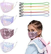 Genovega 4 Pcs Kids Cloth Face Mask - Cute Adjustable Washable Cotton Masks for Kids…
