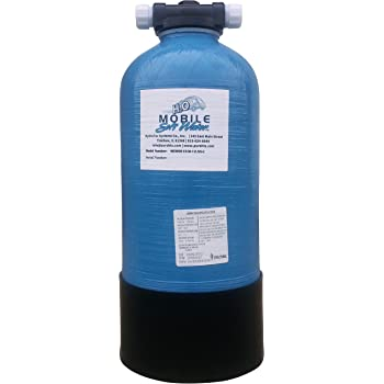Mobile-Soft-Water 12,800 gr RV, Portable & Manual Softener w/salt port, includes Lead Free NSF 61 certified connections, used by Recreational vehicle enthusiasts, Boaters, and highly mobile people.