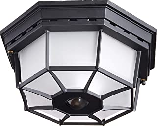 Heath Zenith HZ-4300-BK-B 360-Degree Motion-Activated Octagonal Ceiling Light, Black
