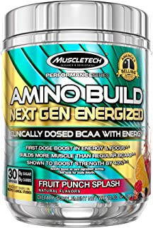 MuscleTech Amino Build Next Gen Energy Supplement, Formulated with BCAA Amino Acids, Betaine, Vitamin B12 & B6 for Muscle ...