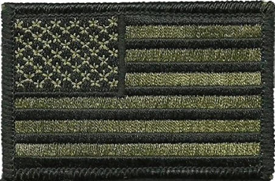 Tactical USA Flag Patch - Olive Drab 2