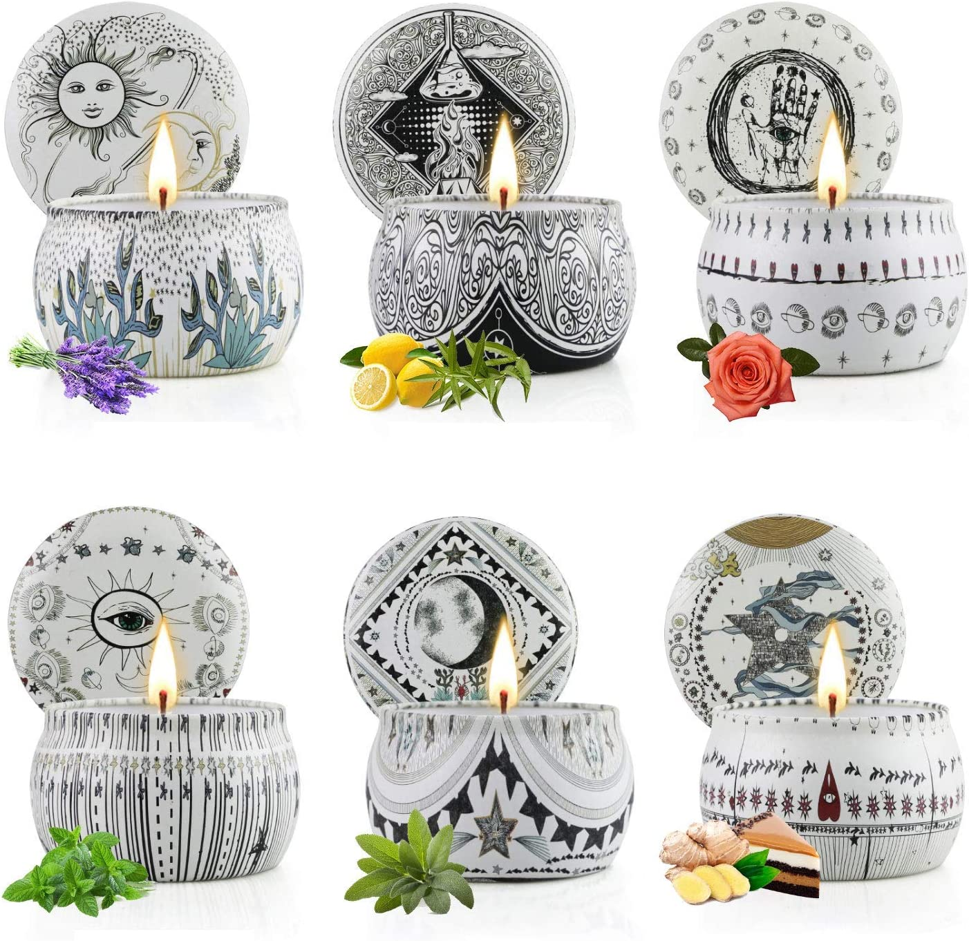 Scented Candles Gift Set for Women Po Clearance SALE! Limited time! Pack 6 Long Beach Mall Candle Aromatherapy