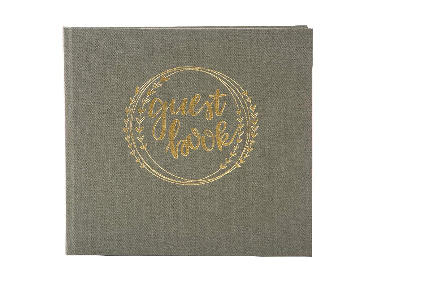 Goldbuch 50105 Guest Book 176 Pages Chamois Textured Bookbinding Paper Olive Green wvh7226922