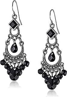 """1928 Jewelry Crescent Chandelier Earrings, 2.12"""""""