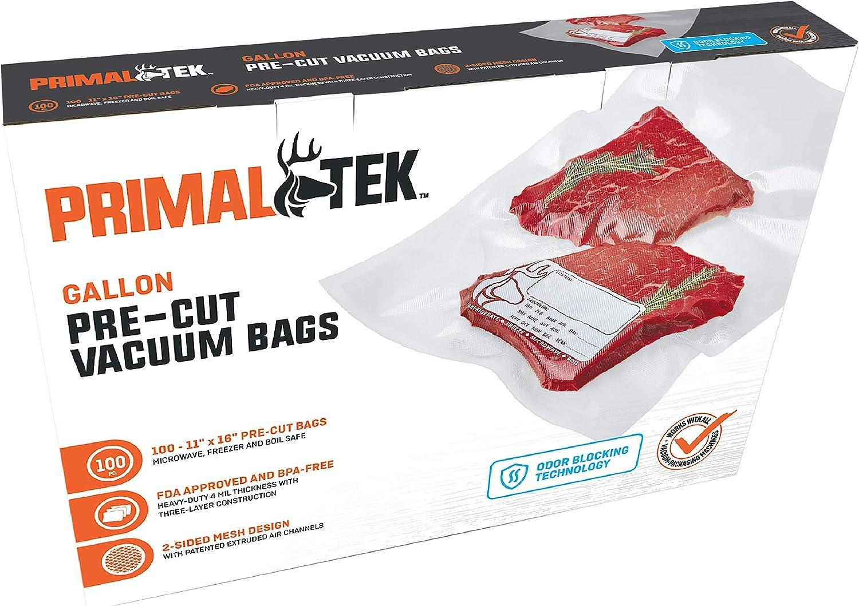 PrimalTek Pre-Cut Vacuum Super beauty product restock quality top Sealer – Bags Genuine BPA-Free Seal