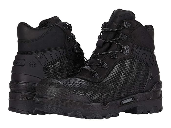 Wolverine  Warrior Superfabric CarbonMAX 6 Work Boot (Black) Mens Work Lace-up Boots