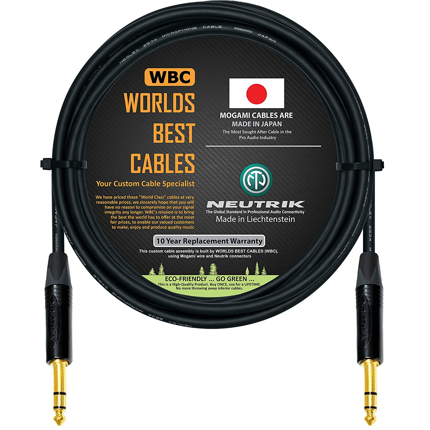 Free Shipping Cheap Bargain Gift 10 Foot - Quad Balanced Patch Cable BEST Custom Made WORLDS C by Excellence