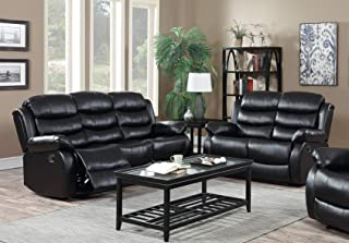 Best Black Leather Living Room Set of 2020 - Top Rated ...