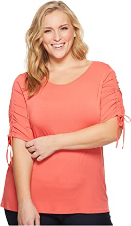 Vince Camuto Specialty Size - Plus Size Drawstring Sleeve Top