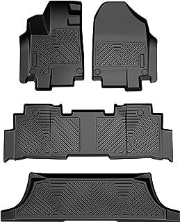 COOLSHARK Honda Odyssey Floor Mats, Floor Liners Custom Fits 2018-2020 Honda Odyssey, 3 Row Full Set Floor Mats Included, All Weather Protection,Black Color