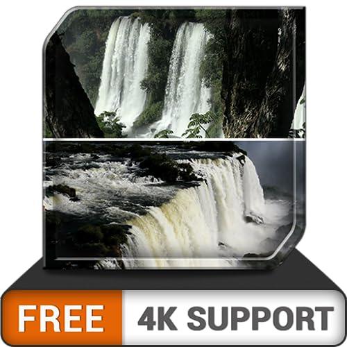 cachoeira adorável grátis HD - regozije-se com a maravilhosa vista da cachoeira na sua TV HDR 4K, TV 8K e dispositivos de incêndio como papel de parede e tema para mediação, paz e Natal