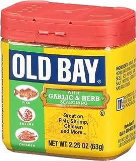 OLD BAY Garlic & Herb Seasoning, 2.25 OZ (Pack of 12)