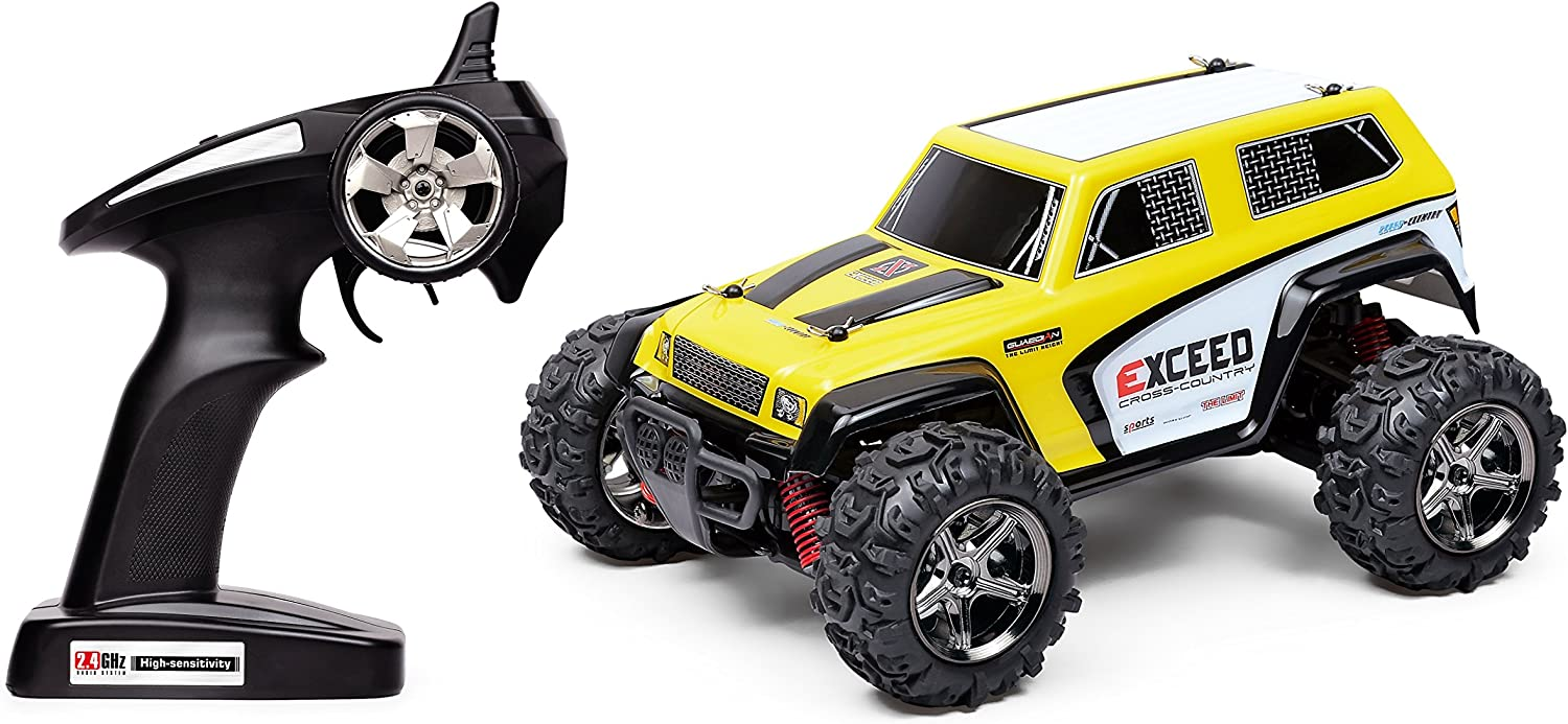 SGOTA RC 1 24 Scale 2.4GHz 4WD Stunt High Speed 40Km H Remote Drift Racing Car Radio Controlled Electric Vehicle, Yellow and Black