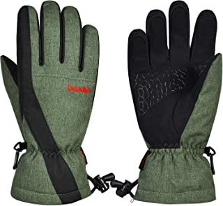 Ski Gloves, Tsuinz Warm Gloves with Touchscreen Windproof Waterproof Gloves for Skiing Riding Men & Women