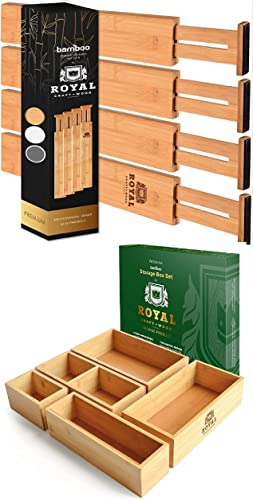 2021 Drawer Dividers online sale 17IN and Storage Box outlet online sale Set of 5 outlet online sale