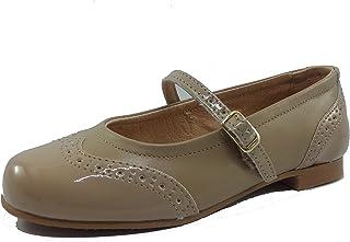 fcea3674936 Zapatos Merceditas Charol+Napa para Niñas Todo Piel Angelitos mod.1526. Calzado  Infantil