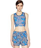 Kate Spade New York Athleisure - Hibiscus Stripe Sports Bra