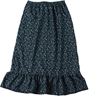 Girls Calico Pioneer Peasant Costume Skirt (Choose Color and Size)