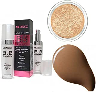 MicaBeauty BB Cream   + Itay Mineral Eye Shimmer Highlights Elegance  (Bundle of 2 Items) (Chocolate)
