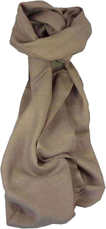 Long Fine Cashmere Scarf Karakoram BirdsEye Weave French Beige by Pashmina & Silk