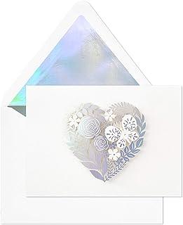 بطاقات فارغة تحمل توقيع هولمارك وقلوب وزهور (8 بطاقات مع ظرف) (5STZ1006)