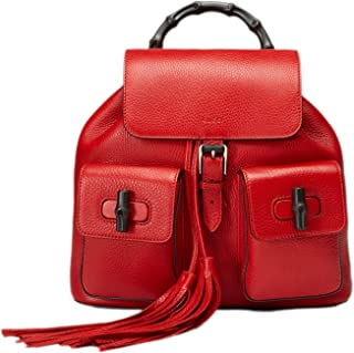 afe045335dd5 Gucci Bamboo Leather Backpack 370833 6433 Red
