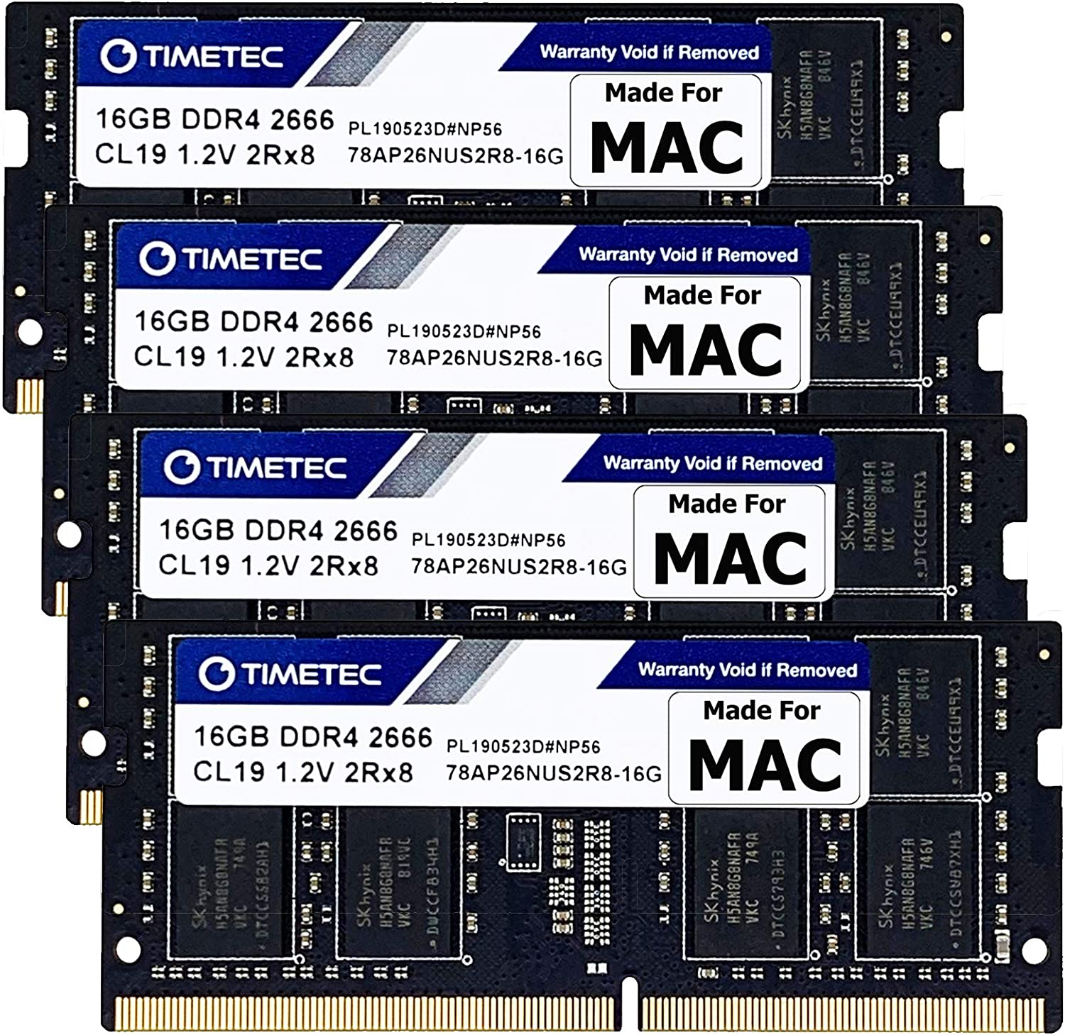 Timetec 64GB KIT 4x16GB Compatible DDR4 2666MHz Super sale sold out M for Apple